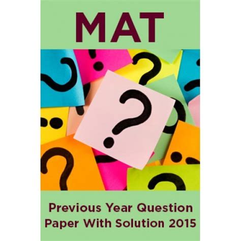 mat previous year question paper with solution 2015 by
