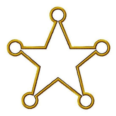 gold star template clipart best