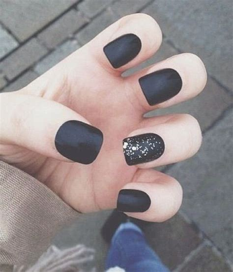 matte black nail designs matte nail ideas