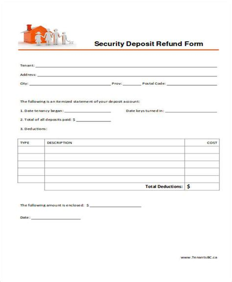 rental deposit form 39 free receipt forms sle templates