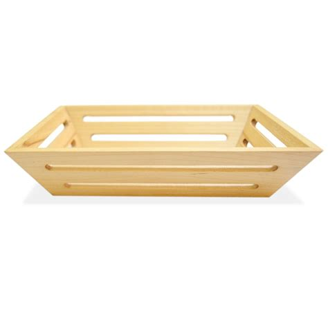 Online Shopping For Home Decorative Items by Buy Wooden Bread Basket Tray Rectangular Free Domestic