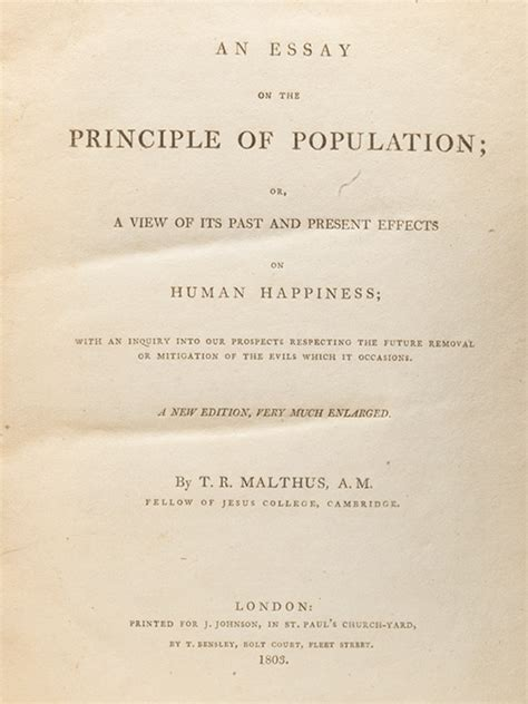 malthus founder of modern demography books robert malthus essay on the principle of