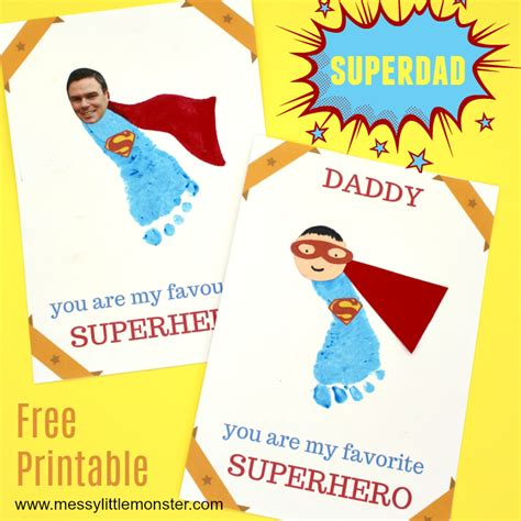printable fathers day cards for to make printable s day card to make for superdad