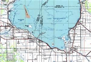 map of lake okeechobee florida south lake okeechobee 1987