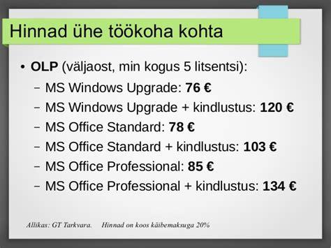 Microsoft Office Standard Olp tarkvaraline vabadus koolis vs tasuline tarkvara