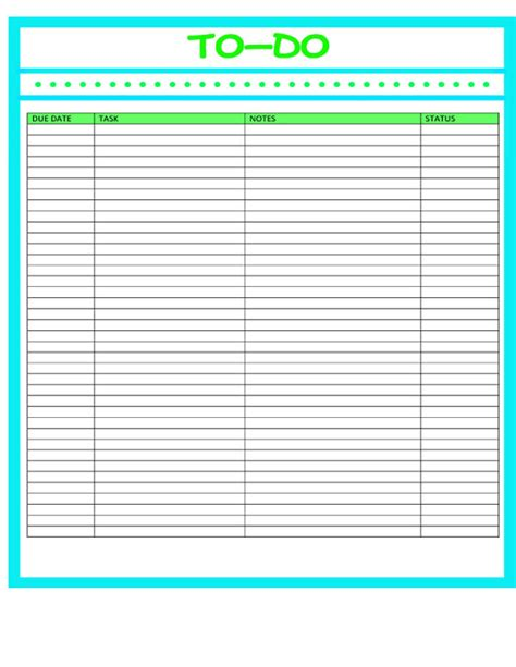 microsoft template to do list 10 word to do list templates printable to do lists