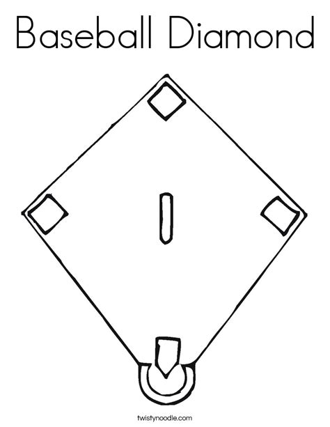 baseball diamond coloring page twisty noodle