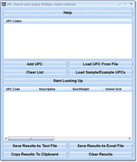Upc Code Lookup Upc Search And Lookup Codes Software