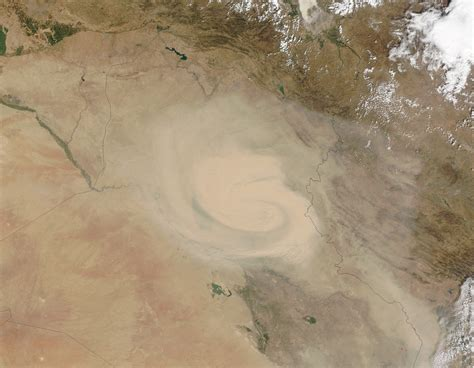 dust marches across iraq and iran hazards