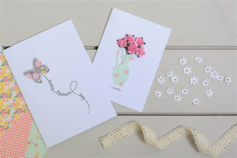Papercraft Cards - how to make a roses jug s day card hobbycraft