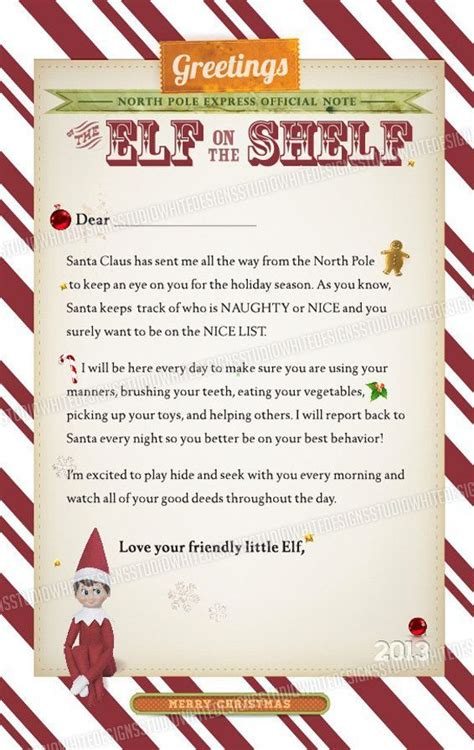 ca christmas welcome message letter from on shelf elves shelves and thanksgiving
