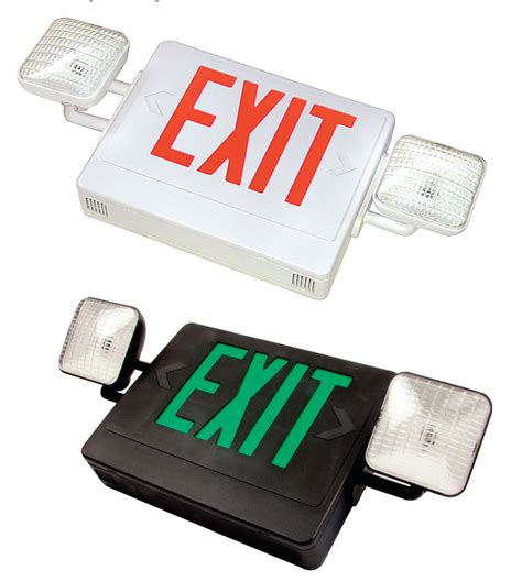 Lu Emergency Combo Bulb exit sign with emergency lights iron
