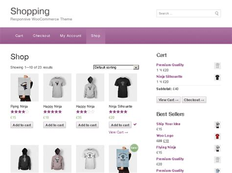 shopping ecommerce wordpress theme themehall