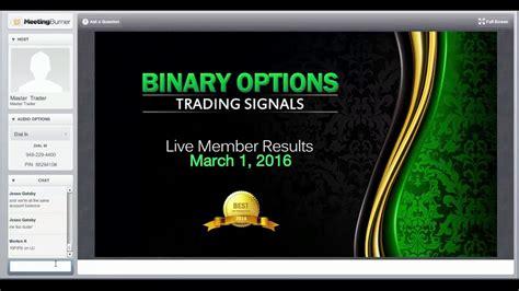 binary options live trading room binary option trading signals live trading room results