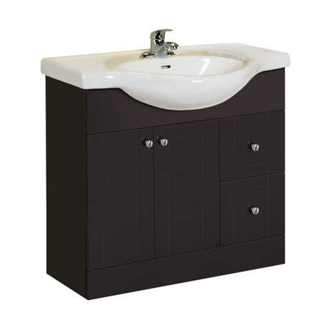 Style Selections Bathroom Vanity Style Selections Vanity Espresso Belly Bowl Single