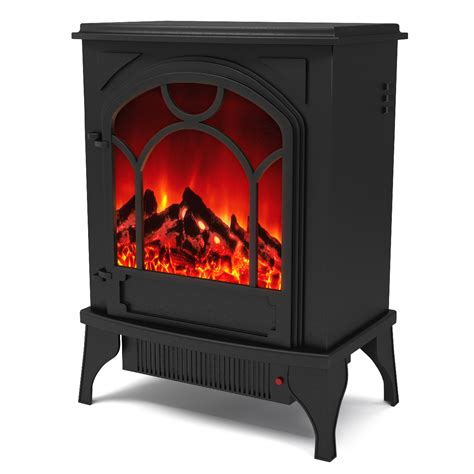 Chimney Free Electric Stove Heater - aries electric fireplace free standing portable space