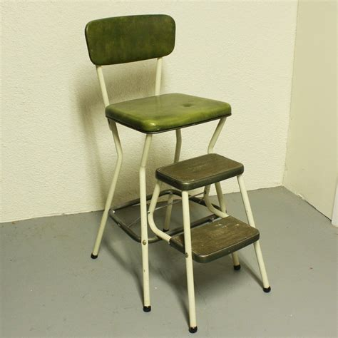 Kitchen Chair Step Stool by Vintage Cosco Stool Step Stool Kitchen Stool Chair
