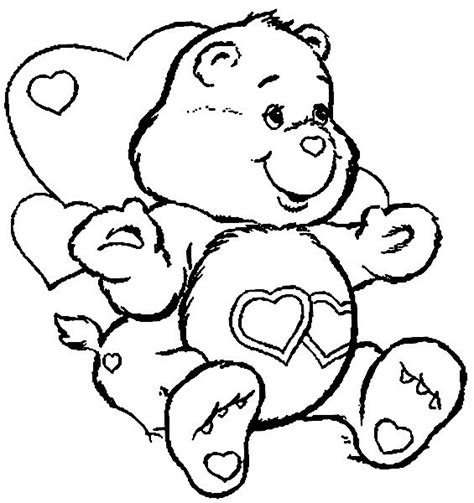 love bear coloring pages 47 best care bear love a lot bear 4 images on pinterest