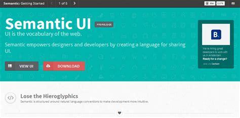 semantic ui layout exles 极力推荐的8个最好的html css框架 html5综合 html5之家 国内最大的html5学习平台