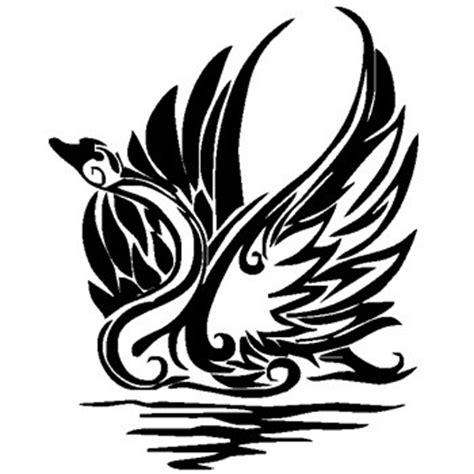 tribal swan tattoo black tribal swan in water design tattooimages biz