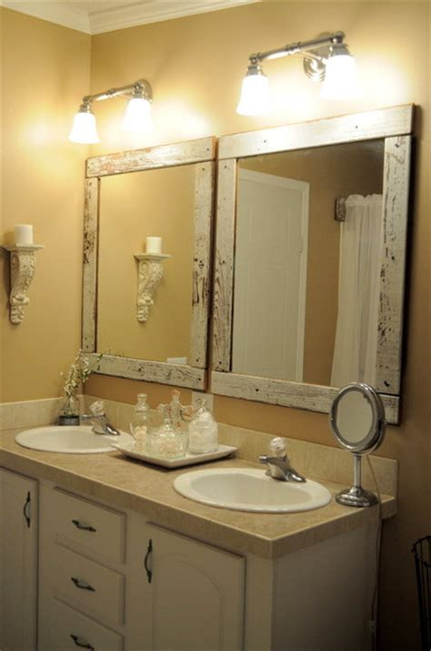frames for mirrors in bathrooms old barn wood