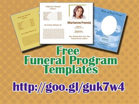 images  funeral program templates  ms word