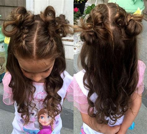 long hair buns for late 30 year old 40 cool hairstyles for little girls on any occasion