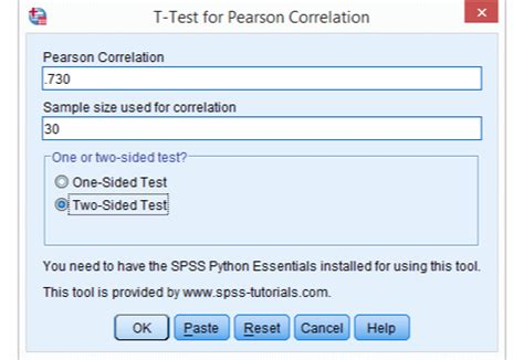 tutorial spss t test spss correlation test simple tutorial