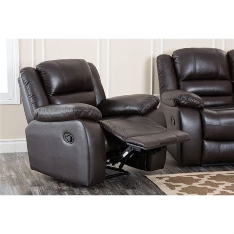 abbyson recliner abbyson living levari leather recliner in dark truffle