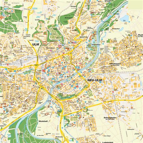 map of ulm germany map ulm baden w 252 rttemberg germany maps and directions