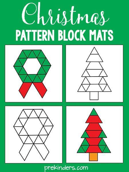 pattern block pictures kindergarten christmas pattern blocks christmas pattern block mats