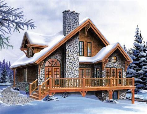 Bungalow Cottage Country Craftsman House Plan 65246 Hillside Cabin House Plans