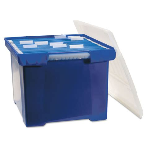 plastic file box plastic file tote storage box by storex stx61554u01c