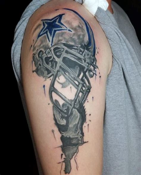 watercolor tattoos dallas tx 50 dallas cowboys tattoos for manly nfl ink ideas