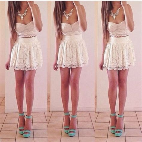 light pink dress shoes tank top white skirt light pink shoes pretty lace
