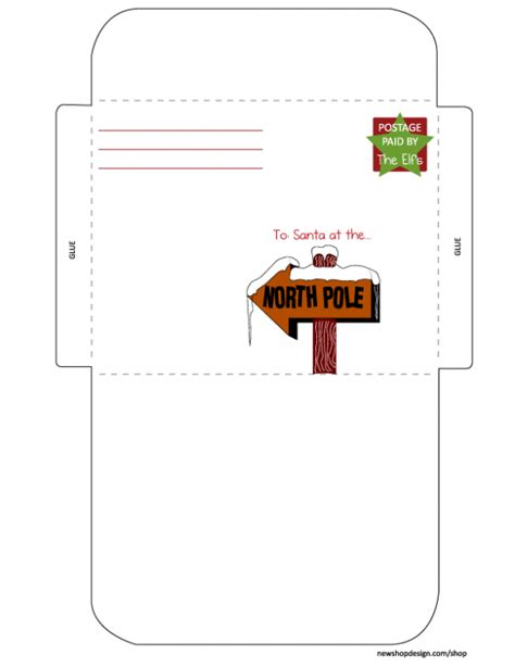 printable envelope from santa 20 free printable letters to santa templates spaceships