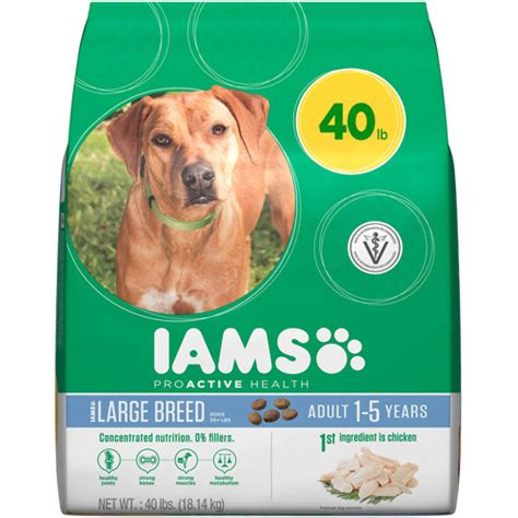 iams large breed food iams proactive health large breed premium food 40 lbs walmart