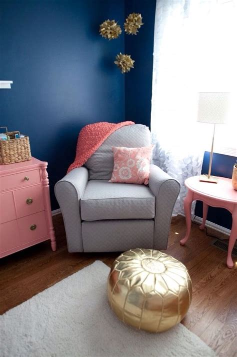 Theme Chambre Bébé Mixte by Gold Grey Navy Blue And Coral Colors For Nursery