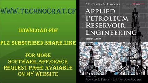 service manual applied petroleum reservoir engineering applied petroleum reservoir engineering 3rd edition pdf youtube