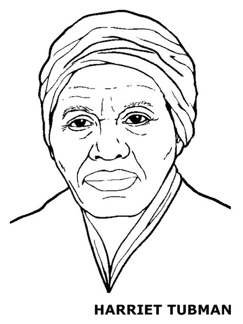Harriet Tubman Coloring Page black history month coloring pages coloring home