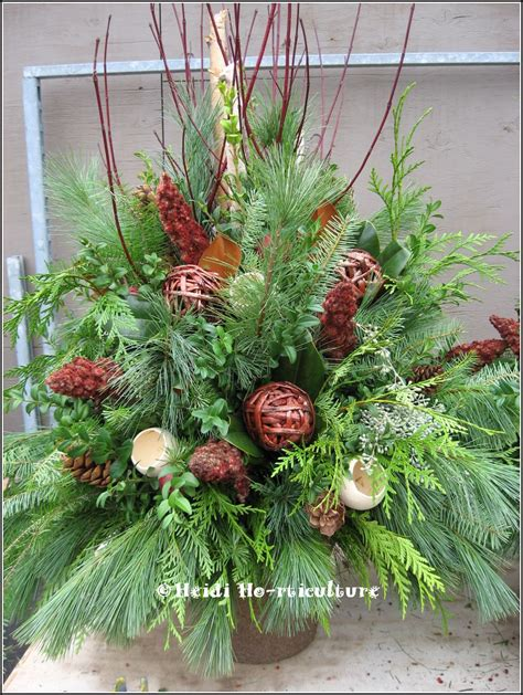 christmas urn designs heidi horticulture outdoor urn container