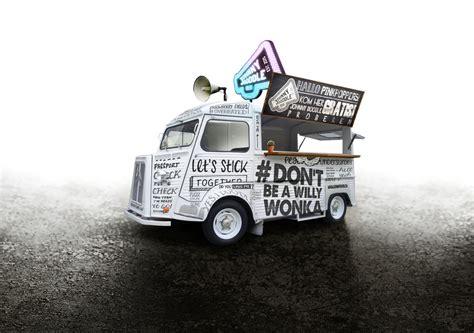 coq a doodle food truck johnny doodle the dieline branding packaging design