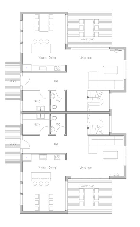 check out duplex house plan news duplex house plan ch287 house plan