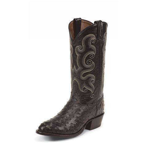 black cowboy boots tony lama black ostrich exotics cushion comfort cowboy