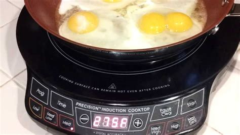 induction cooking eggs nuwave pic precision induction cooktop fried eggs