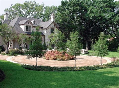 home design center granite drive gravel circular driveway landscape design ideas