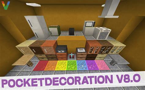Minecraft Kitchen Additions Mod Pocketdecoration 8 0 Furniture Mod For Minecraft Pe