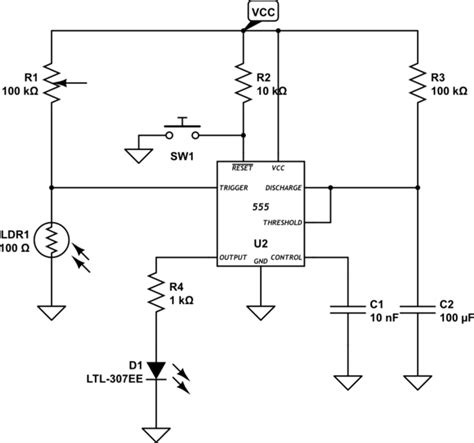 photoresistor schematic how to keep led in quot on quot state using 555 ic electrical engineering stack exchange