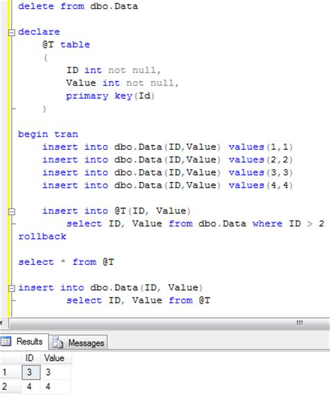 T Sql Table Variable by Sunday T Sql Tip Temporary Table Variables And