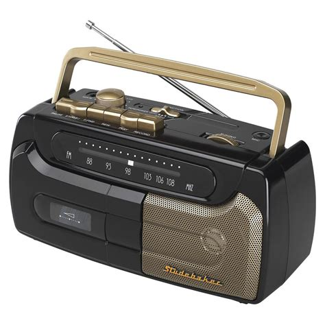 cassette player studebaker portable cassette player recorder with fm radio